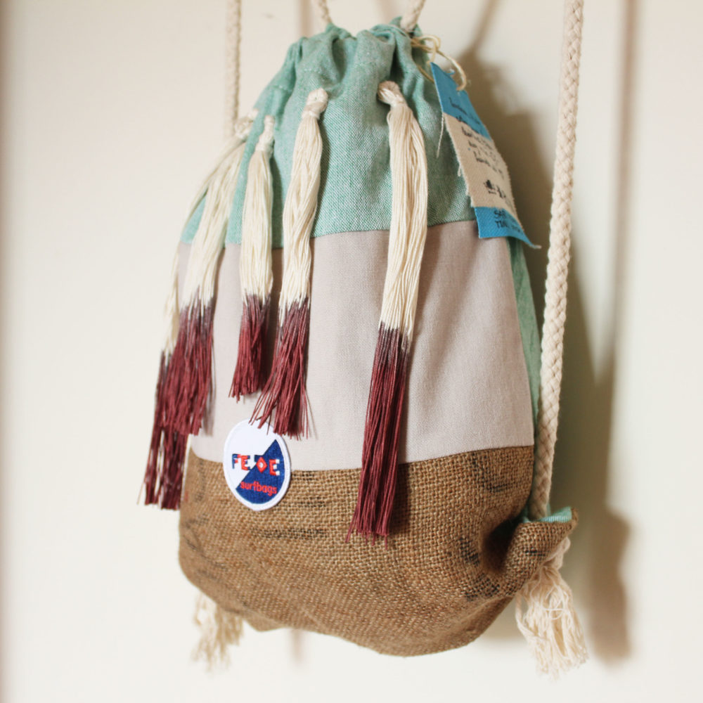 Fringed beach bags
