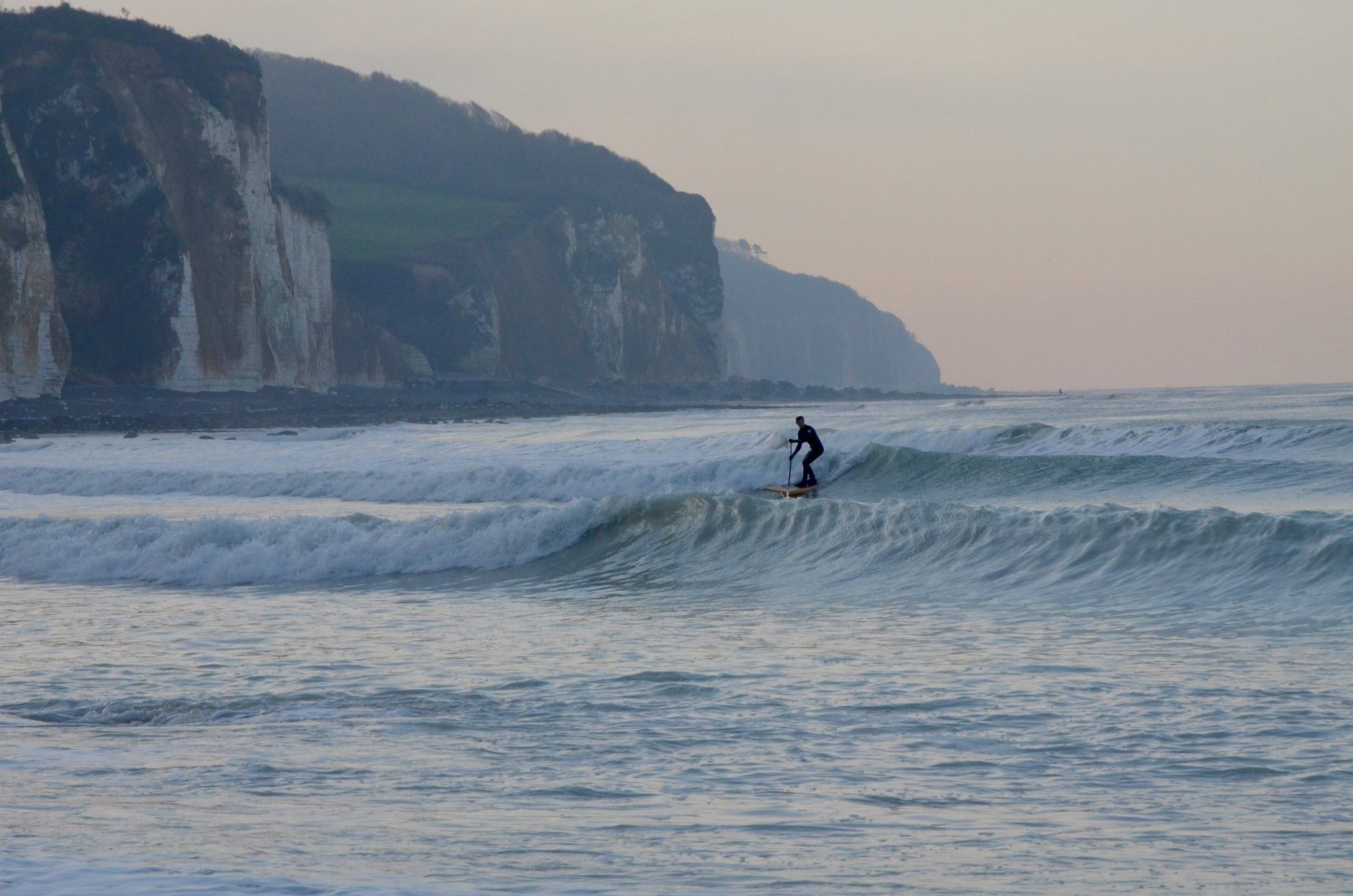 Surfing in Normandy