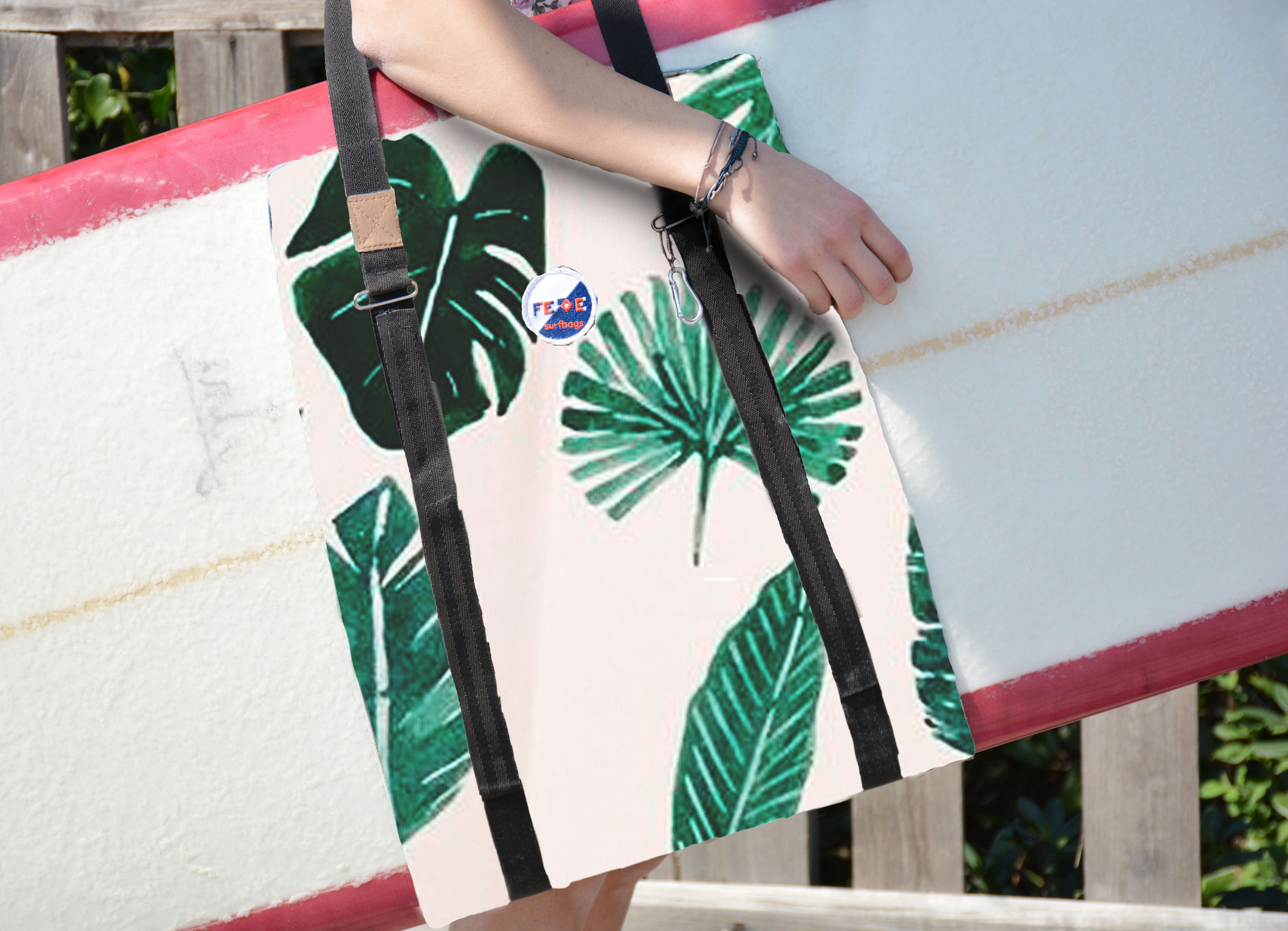 handmade surfboard sling