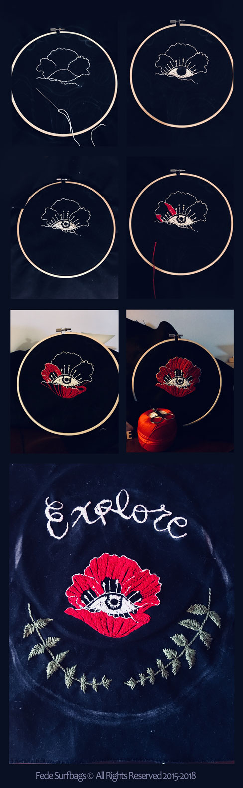Broidery by Fede Surfbags