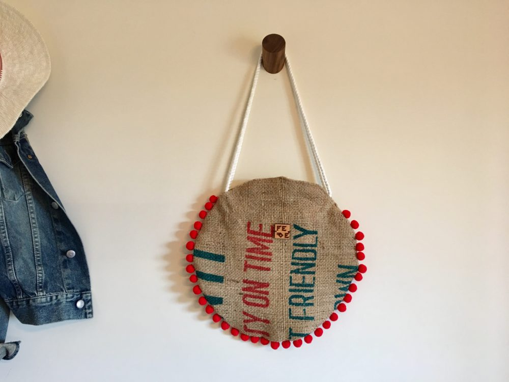 Rounded Jute Tote Bag - Fede Surfbags