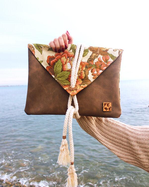 Floral Canvas Maxi Handbag