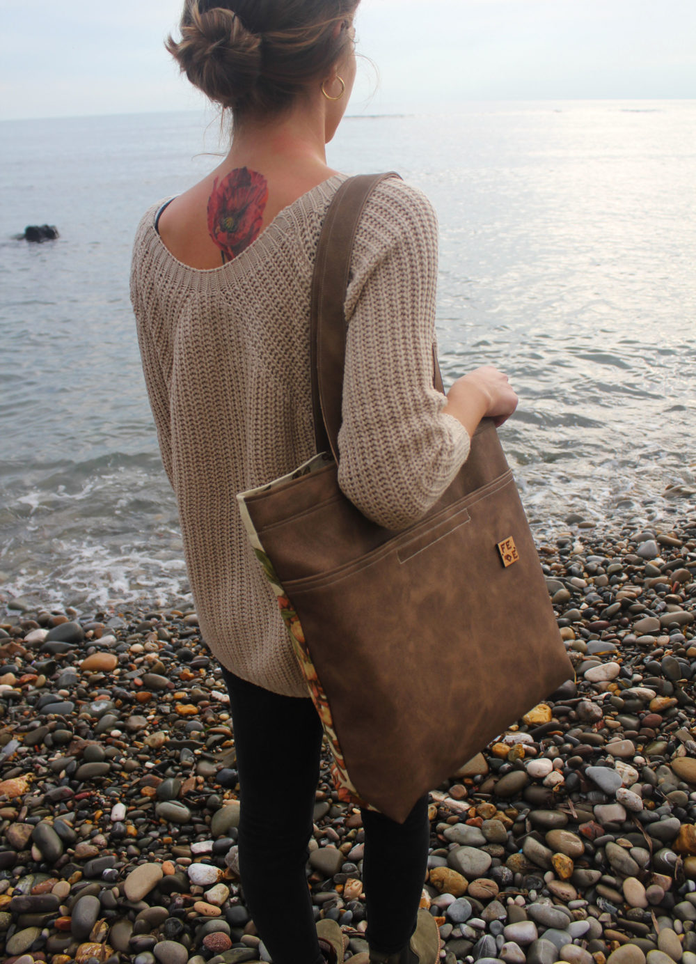 Vegan LeatherToteBag - Fede Surfbags