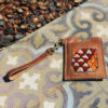 Leather & Berber Vintage Carpets Card Holder for men and women by Fede Surfbags