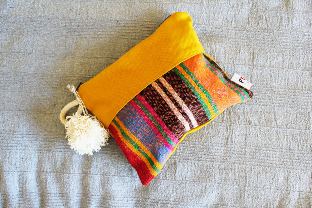Yellow Colorful Clutches by Fede Surfbagss