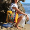 Colorful Tote Bags made with vintage berber carpets by Fede Surfbags