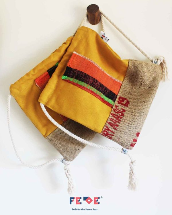 Canvas Beach Sack Mini Nomads by Fede Surfbags