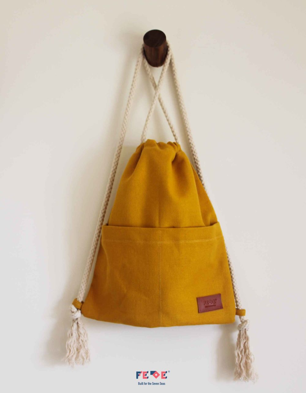 Canvas Beach Sack with front pockets - Mini Nomads - Fede Surfbags