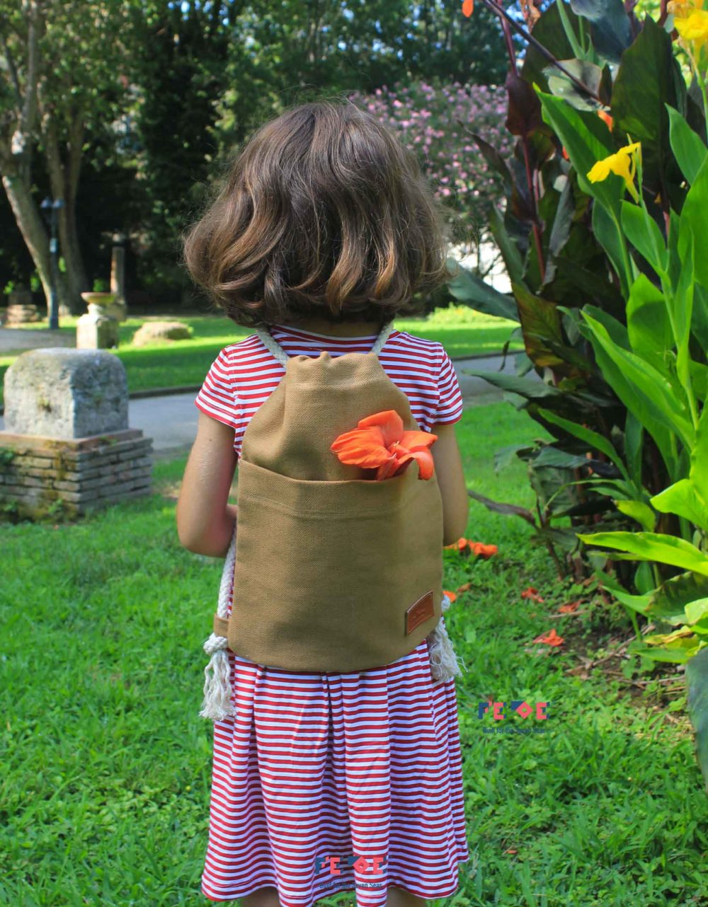 OAK Canvas Beach Sack with front pockets - Mini Nomads - Fede Surfbags