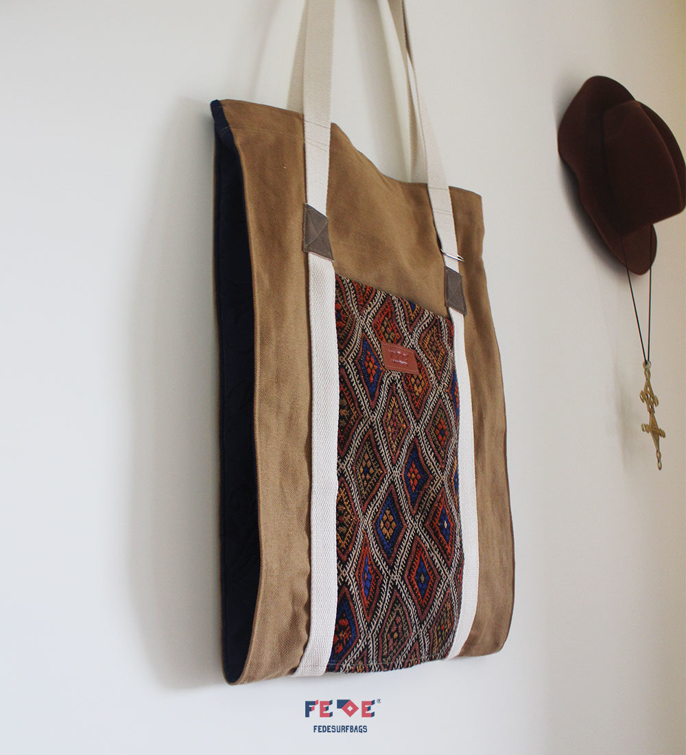 A NOTE: Each bag is one of a kind, because of the uniqueness of the hand-woven berber carpets we used*.