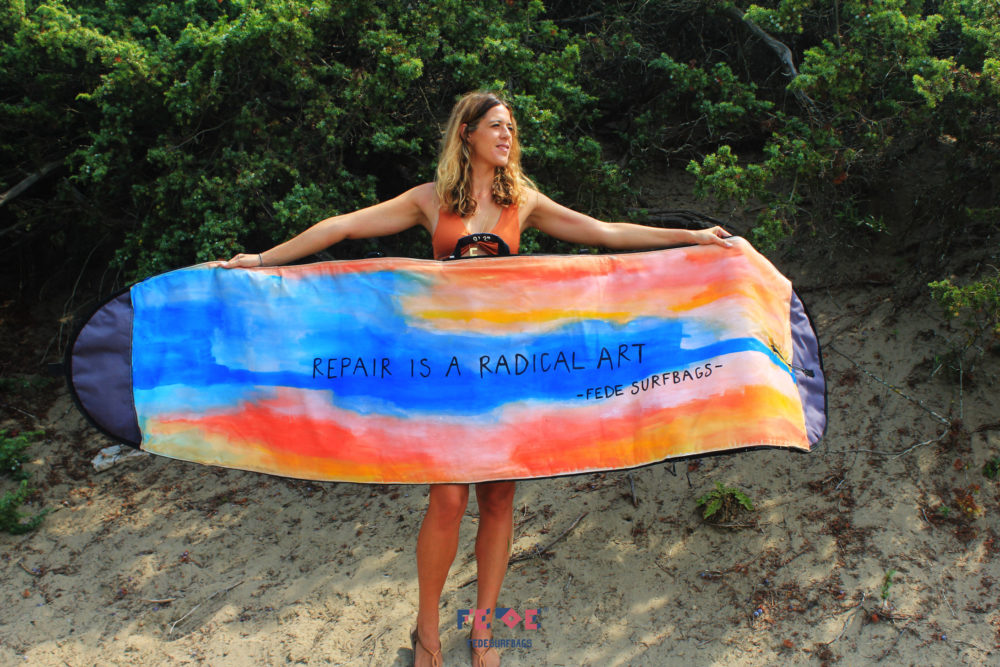 Repair Is A radical Art - Travel Board bag - Fede Surfbags