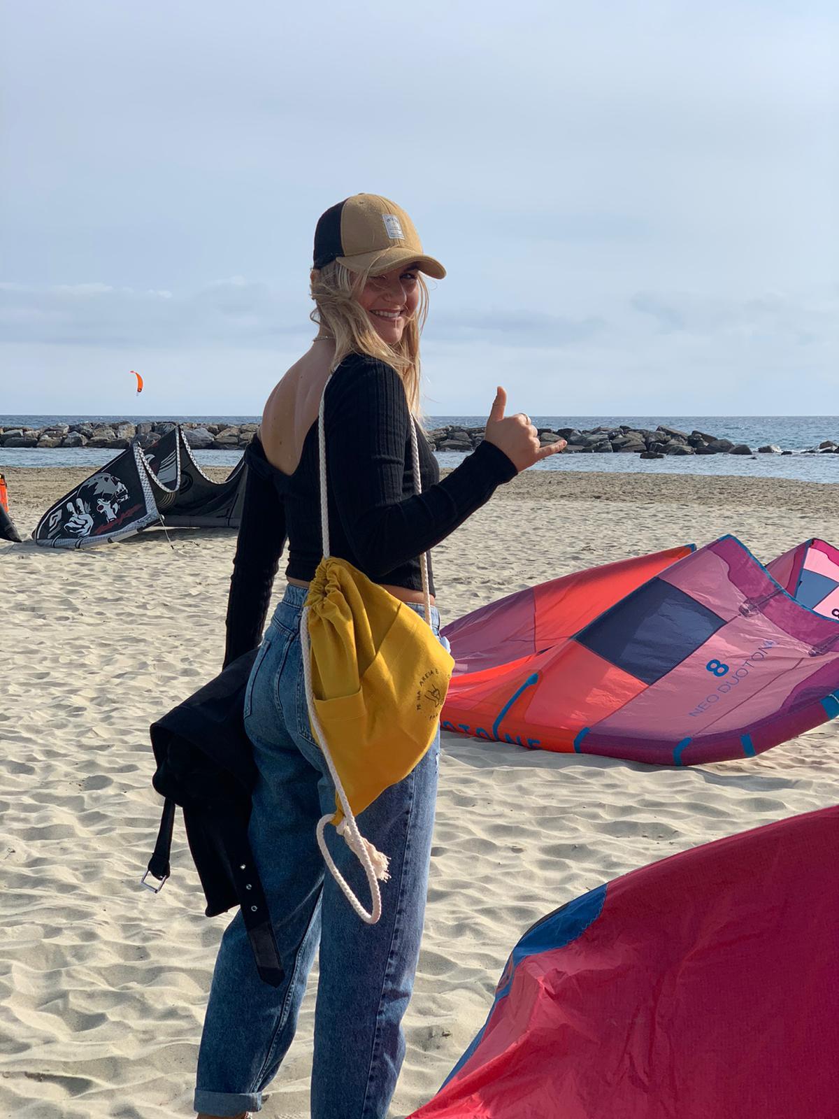 Custom Beach Canvas Sack by Fede Surfbags