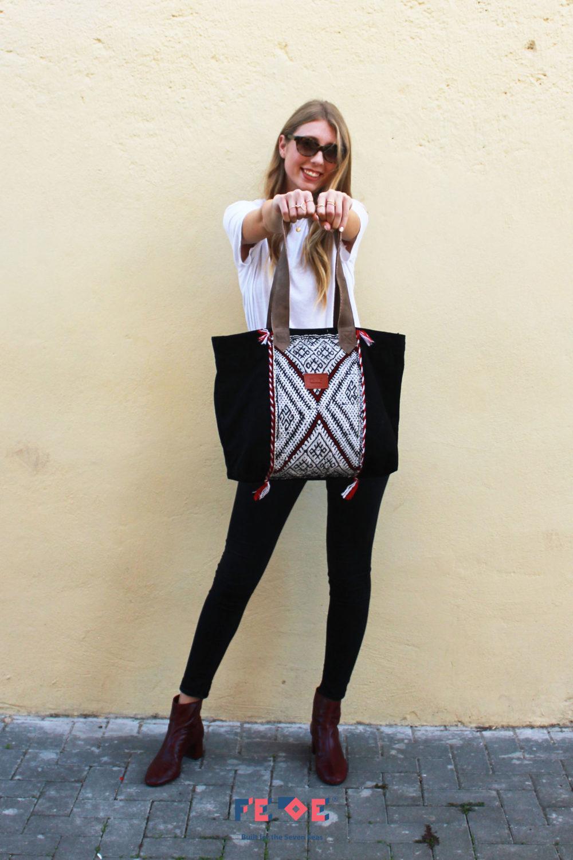 Black Tote Bag Sahara - Shoulder Bag by Fede Surfbags
