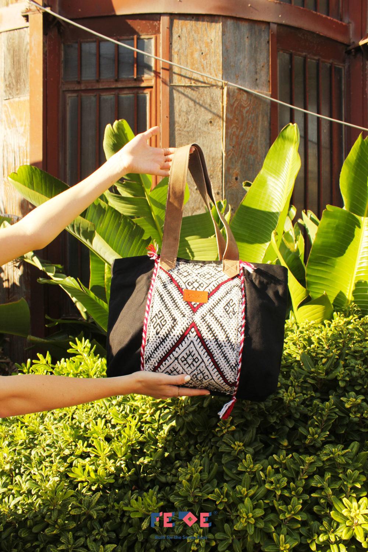 Black Tote Bag - Shoulder Bag by Fede Surfbags