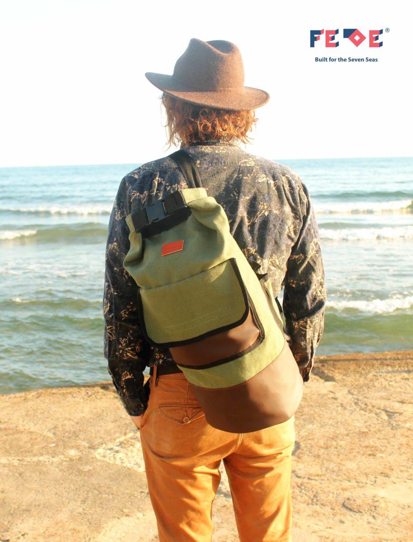 Olive Green Fede Duffle Bag bu Fede Surfbags
