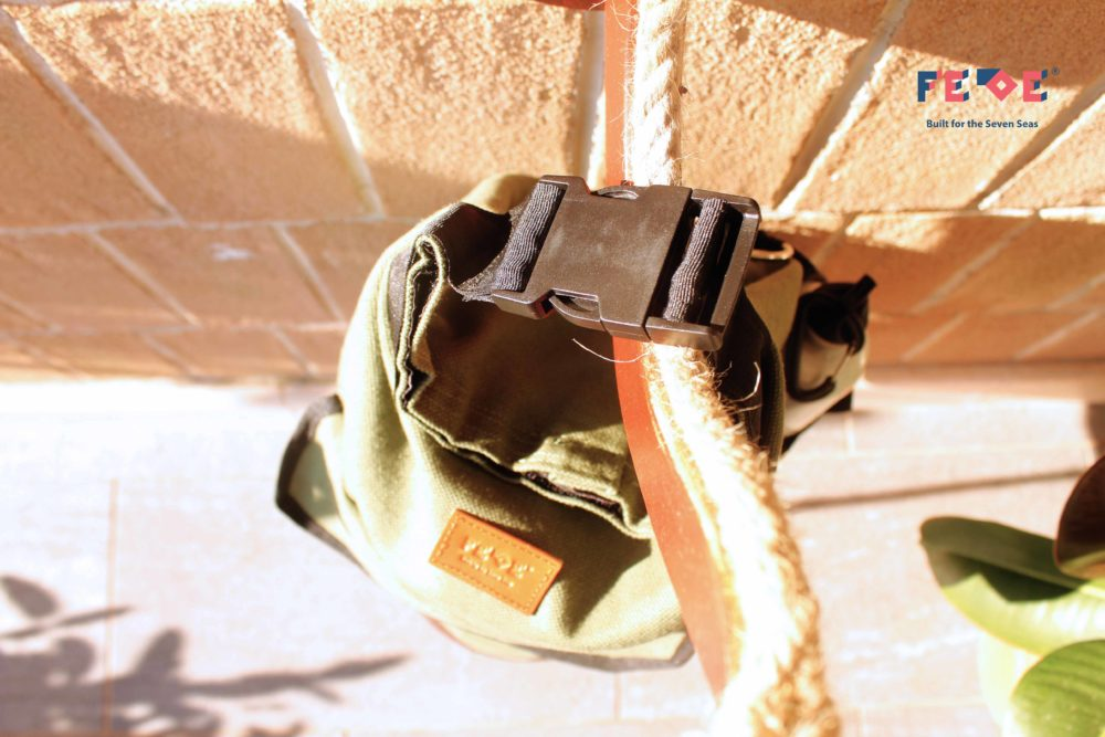 olive green Fede Duffle Bag by Fede Surfbags