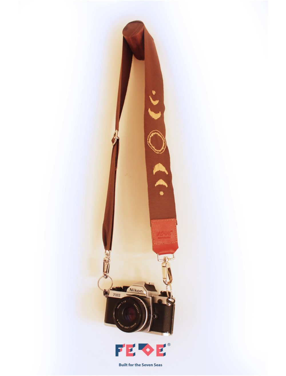 hand-embroidered Adjusstable Camera Strap Luna - Handmade in Italy - Fede Surfbags