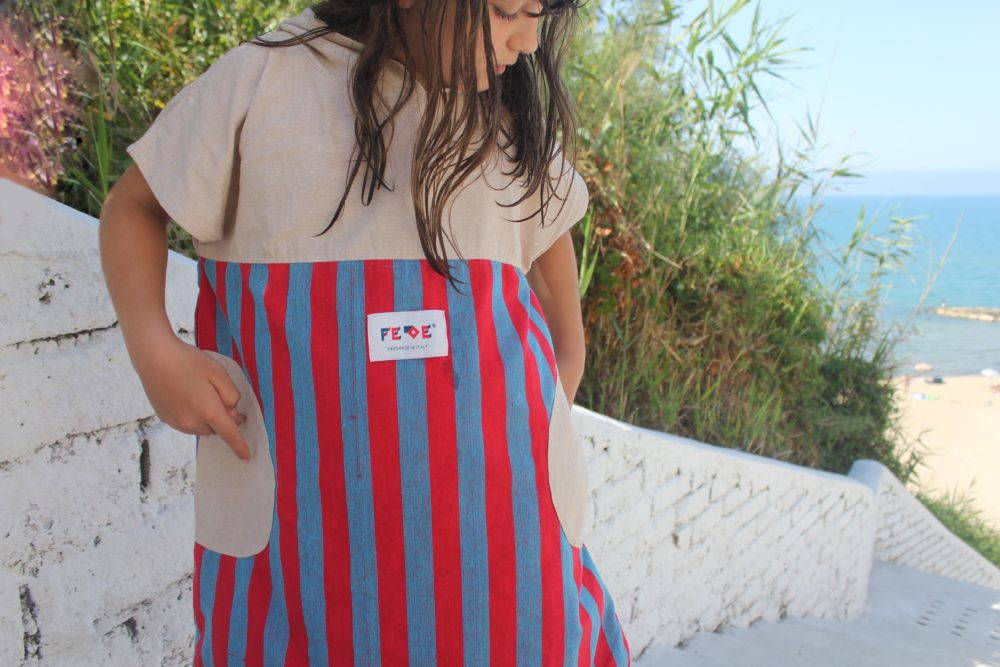 5-9 years-old kids change robe - surf poncho by Fede Surfbags