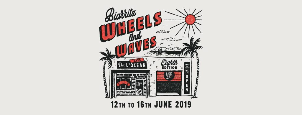 Wheels and Waves Festival in Biarritz. FEDE Stickers Invasion