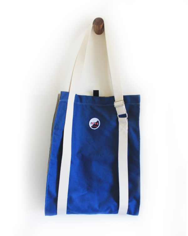 Sailor Blue Surfboard Carrier. Cotton Canvas Longboard Bag built to carry surfboard to the beach. Handmade in Italy by Fede Surfbags