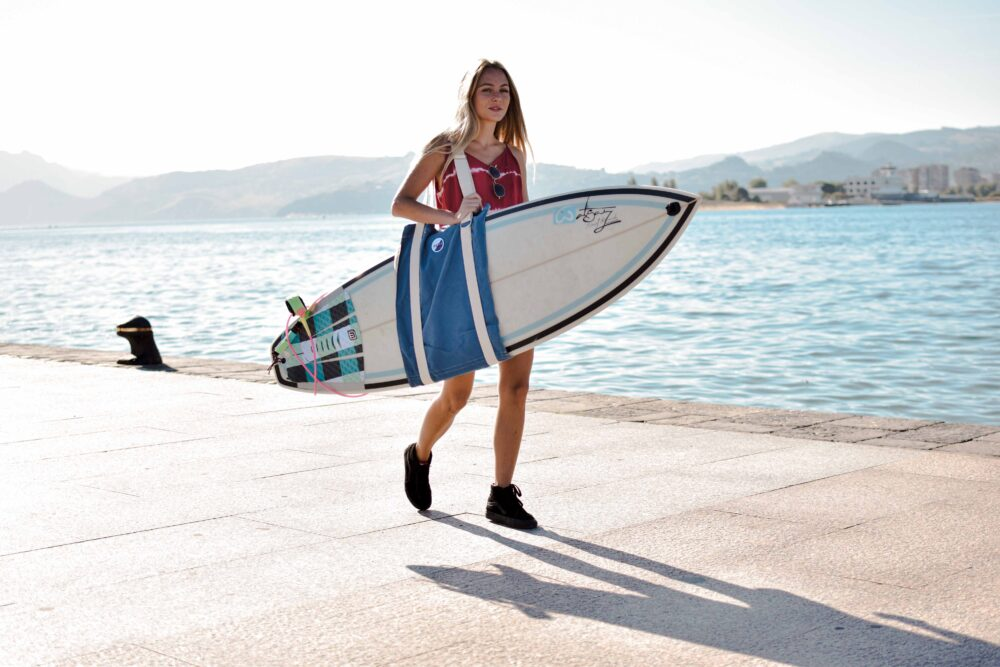 Handmade Sustainable Canvas Surfboard Bags. Made in Italy by Fede Surfbags