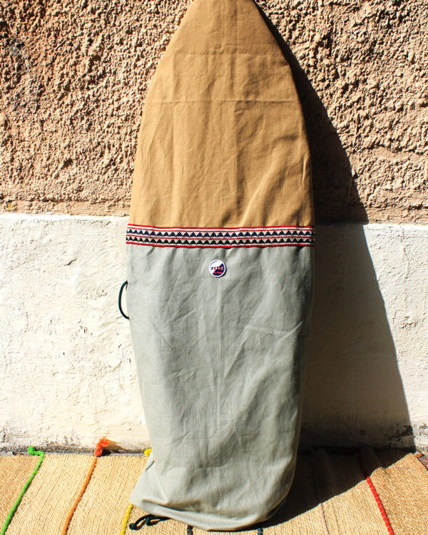 Canvas Fish and Shortboard Surfboard Bag. Sustainable Canvas Boardbag Made in Italy by Fede Surfbags