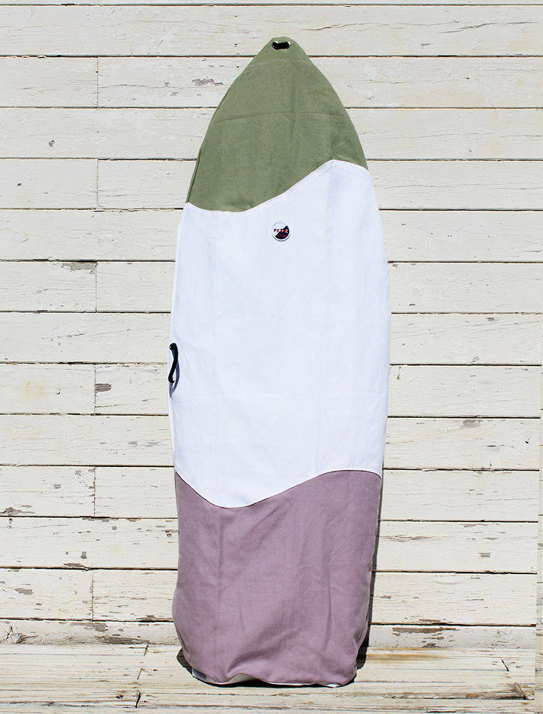 SUSTAINABLE CANVAS SURFBOARD BAG - Fish and Retro Surfboard by Fede Surfbags